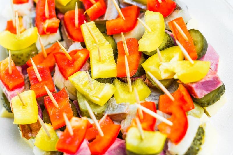 Мини закуска зубочисток сандвичей стоковая фотография rf
