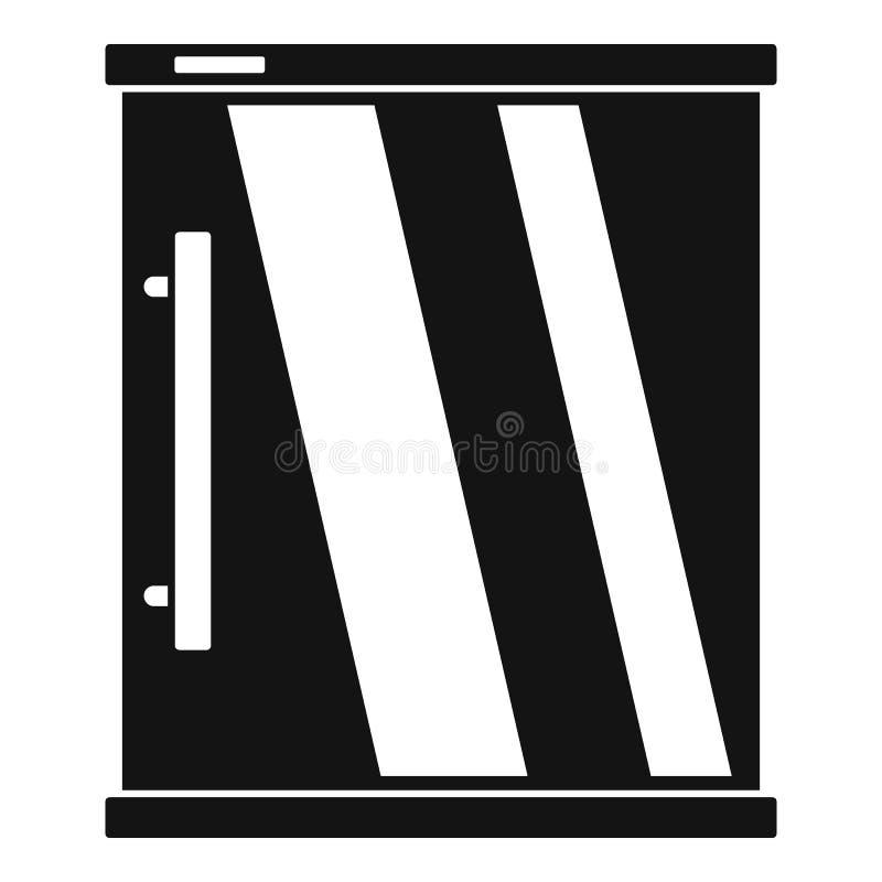 Мини значок холодильника, простой стиль иллюстрация вектора