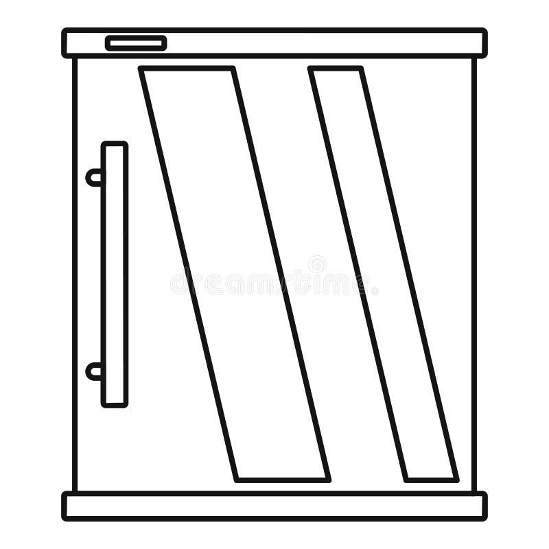 Мини значок холодильника, стиль плана бесплатная иллюстрация