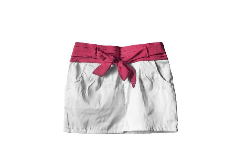 Мини изолированная юбка стоковая фотография