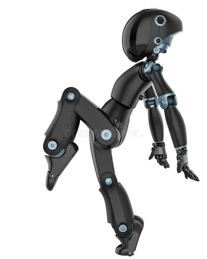 Мини и действительно славный робот иллюстрация штока