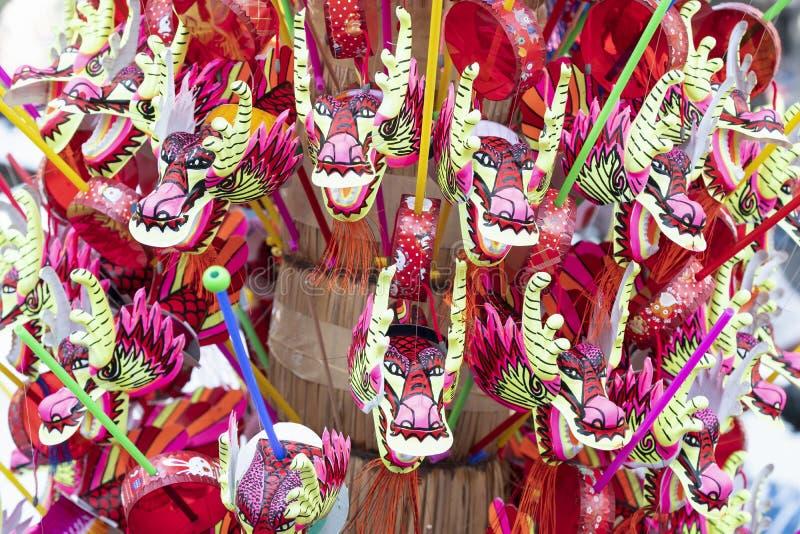 мини китайские фольклорные барабанчики игрушки стоковые изображения rf