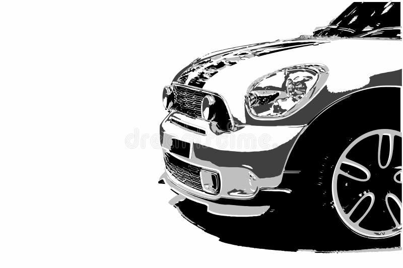 Мини модель автомобиля на белой предпосылке Di Резать человека автомобиля автомобиля бесплатная иллюстрация