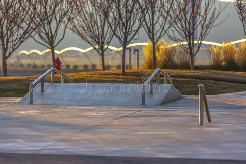 Мини парк конька отличает районом долины Юты стоковое изображение rf