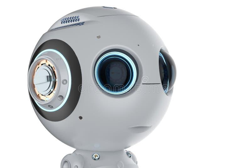 Мини робот с большими глазами бесплатная иллюстрация