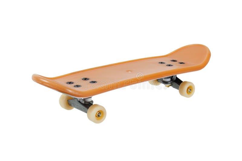 Мини скейтборд на белизне стоковая фотография rf