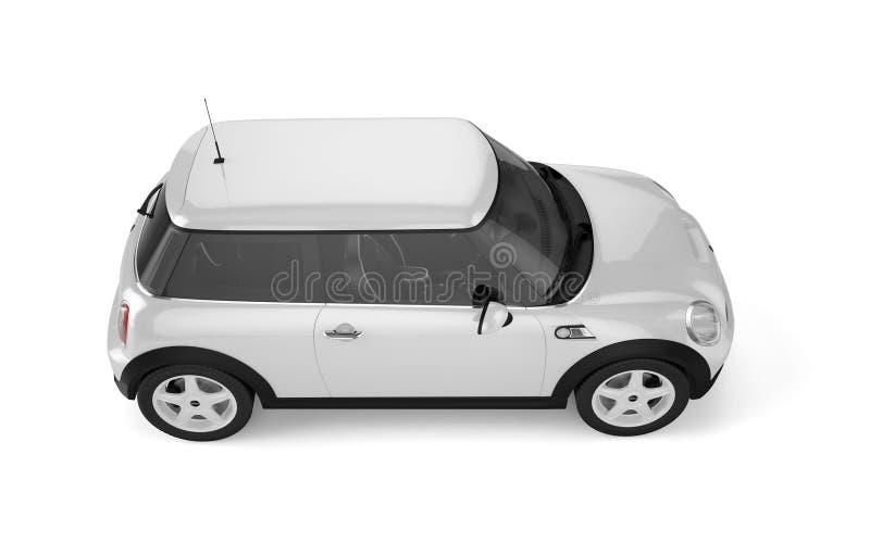 Мини спортивная машина на белой предпосылке иллюстрация вектора