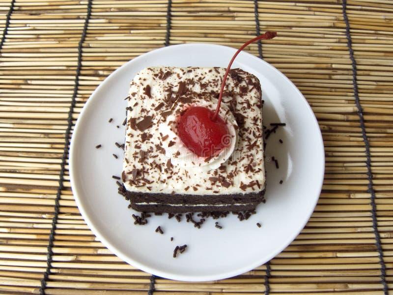мини торт черного леса кофе стоковое изображение