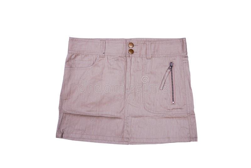 Мини юбка изолированная на белизне стоковое изображение rf