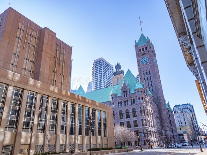 Миннеаполис, Минесота, 19,2019 -го март, Городской Миннеаполис, во время времени дня стоковое изображение