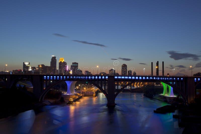 Миннеаполис, Минесота (панорамная) стоковые изображения