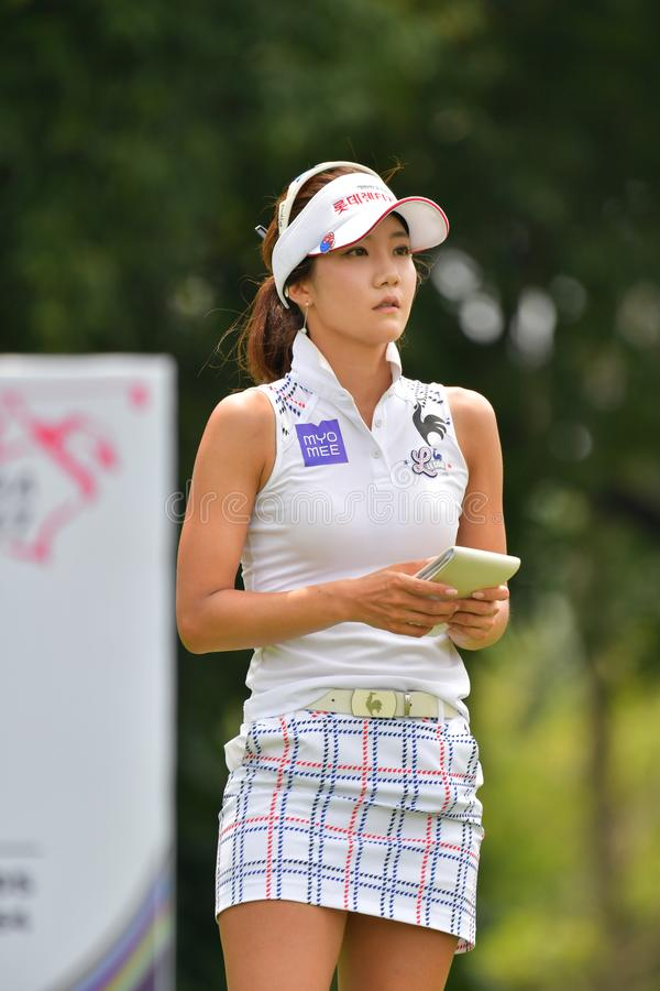 Минута Ким Ji Республики Корея в PTT Таиланде LPGA Maste стоковые фотографии rf