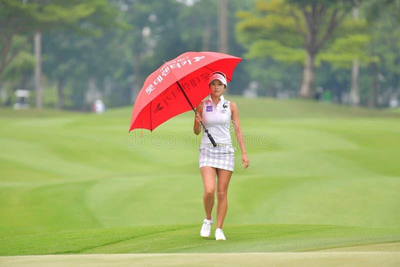 Минута Ким Ji Республики Корея в PTT Таиланде LPGA Maste стоковые фото