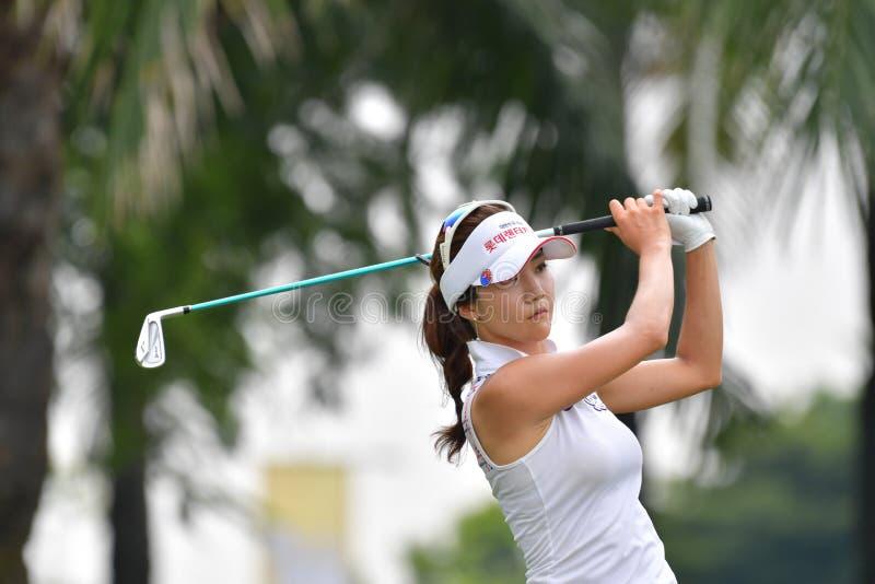 Минута Ким Ji Республики Корея в PTT Таиланде LPGA Maste стоковое изображение rf