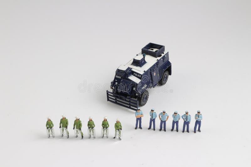 Минута полиции концепции безопасности людей стоковые фото