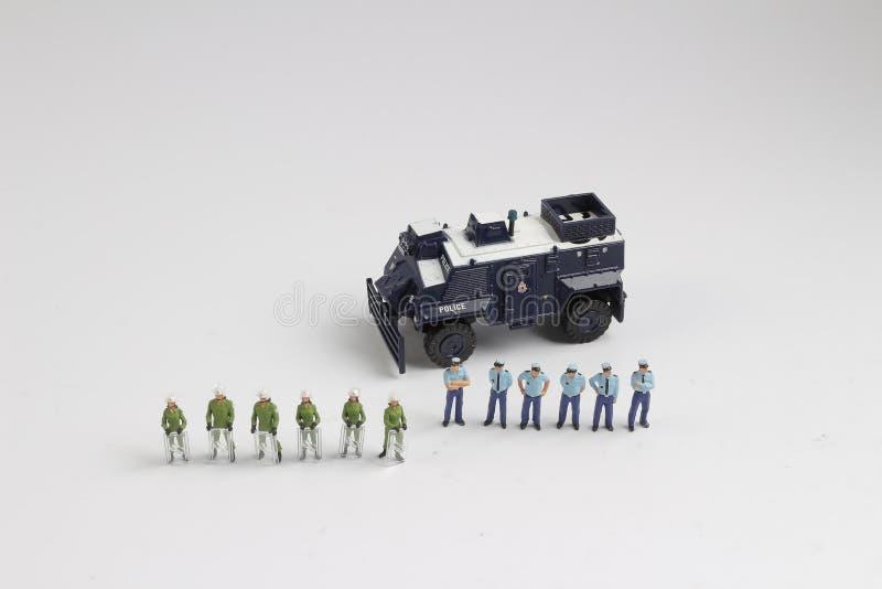 Минута полиции концепции безопасности людей стоковое изображение