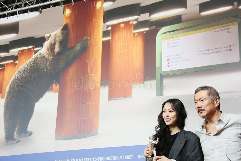 Минута-hee Ким, директор Hong Sangsoo стоковые фотографии rf
