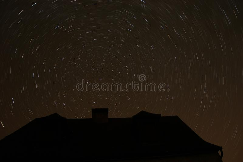 30 минут длиной ломают на приполюсной звезде стоковое изображение rf