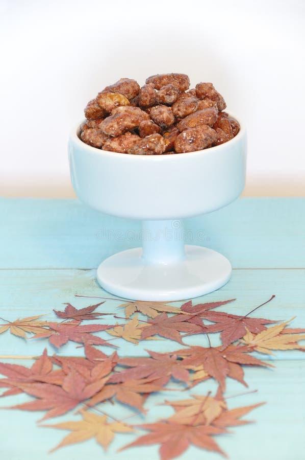 Миндалины с сахаром типичным Испании стоковое фото