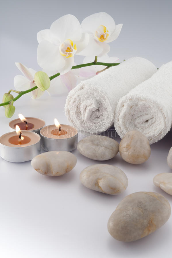 миражирует полотенца белые стоковое изображение