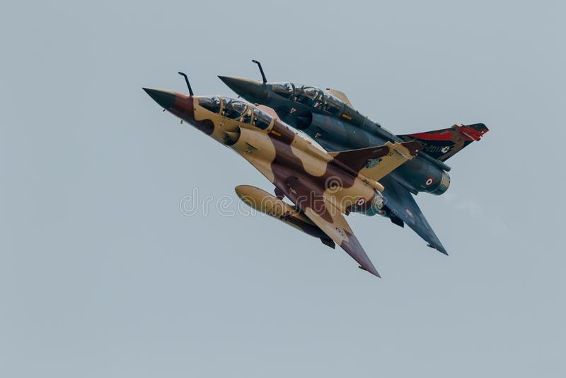 Мираж 2000 воздушных судн дисплея перепада Couteau тактического стоковые фото