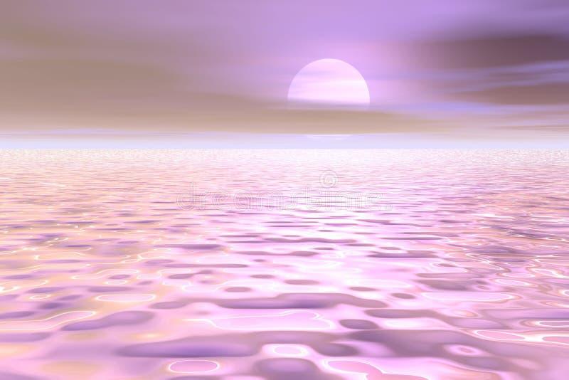 мирное море scape иллюстрация штока