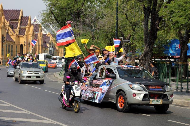 Мирные протест и ралли на Бангкоке стоковые изображения rf