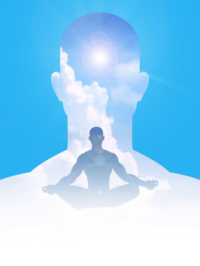 Мирные разум и тело иллюстрация вектора