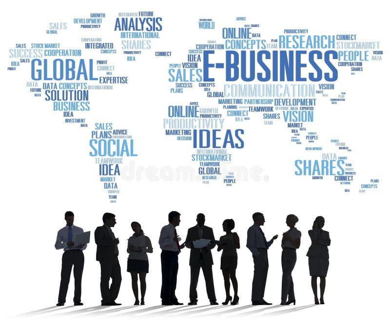 Мировоззренческая доктрина коммерции глобального бизнеса E-дела онлайн стоковые фото