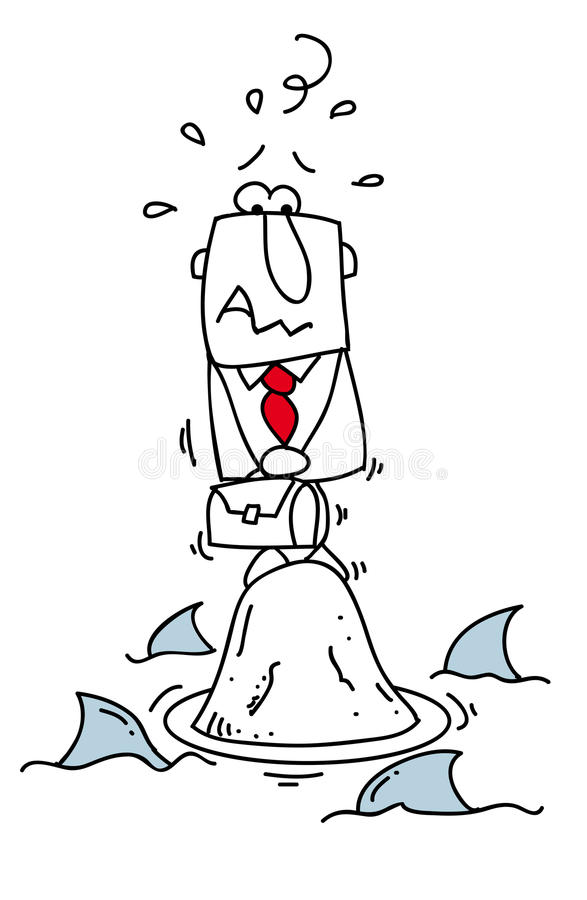 Мир акул. иллюстрация штока