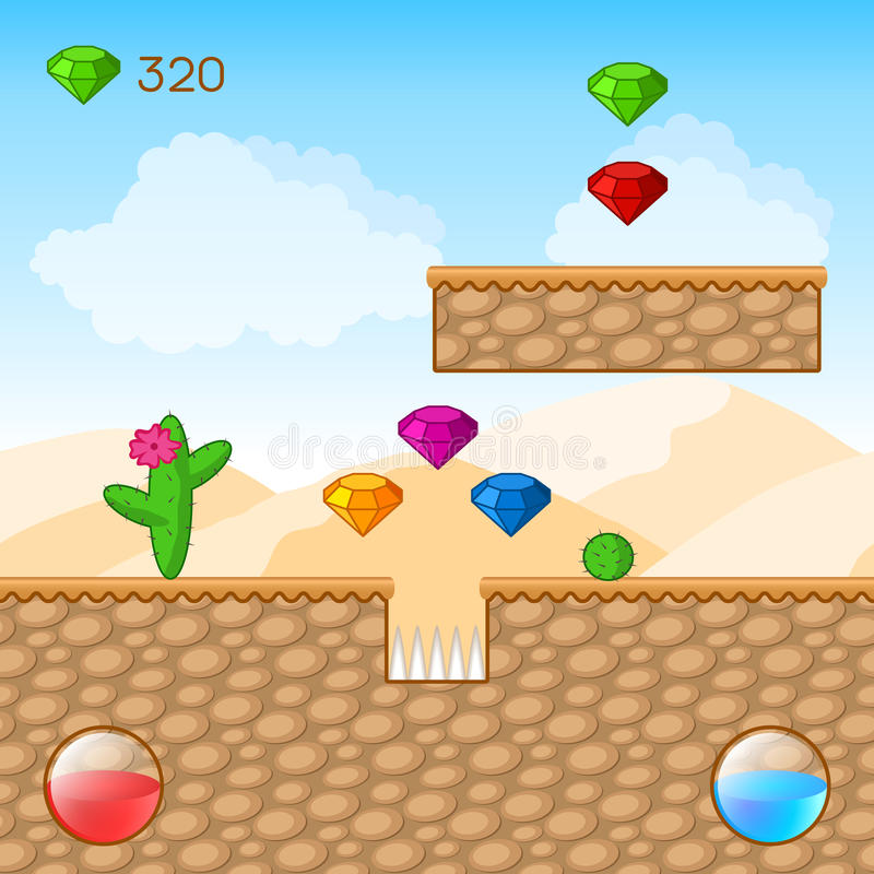Мир видеоигры иллюстрация вектора