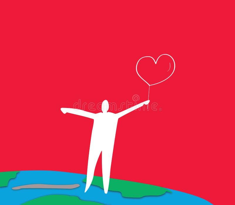 мир влюбленности иллюстрация вектора