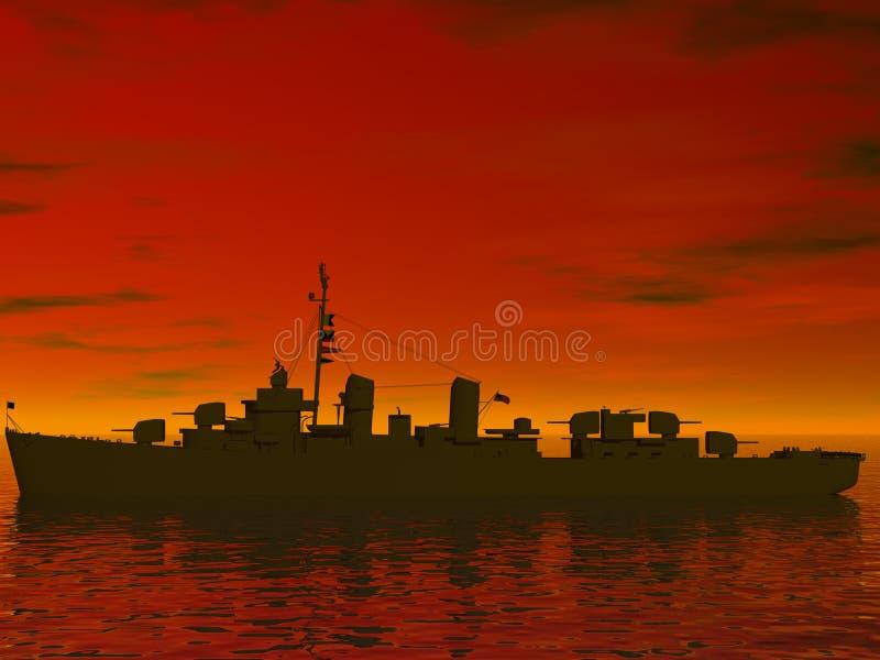 мир войны 2 морей южный иллюстрация вектора