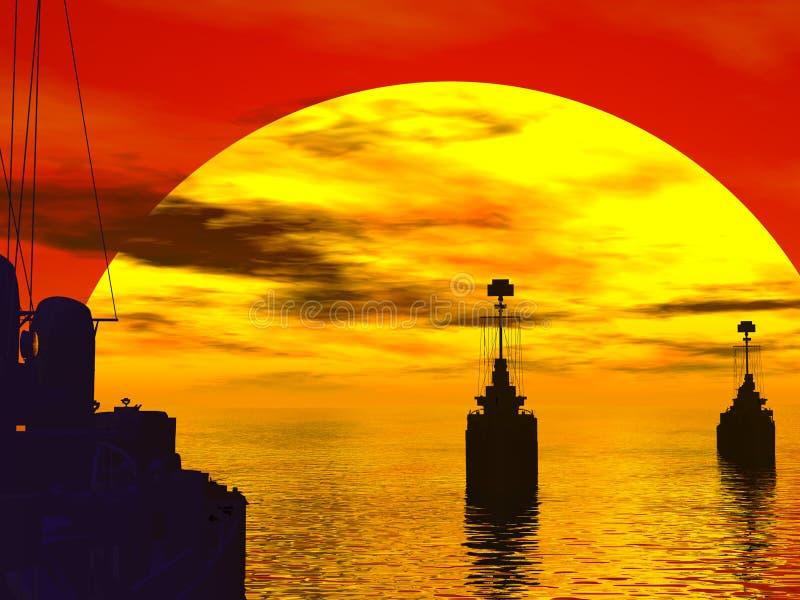 мир войны 2 морей южный иллюстрация штока