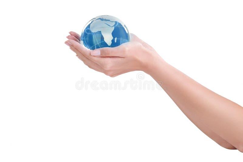 Мир в руках стоковое изображение