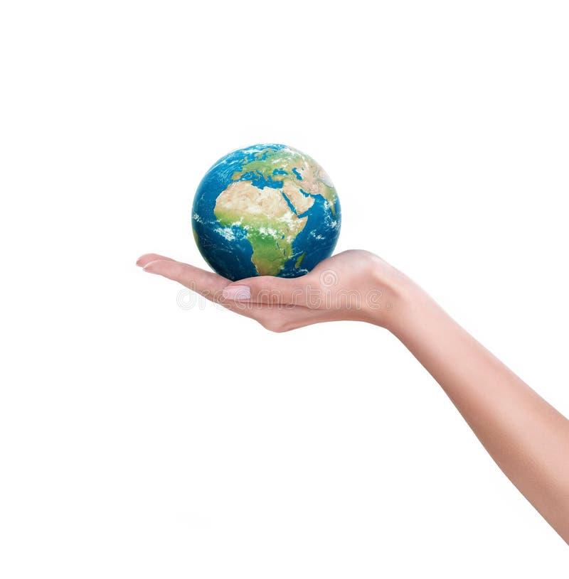 Мир в руке стоковое изображение