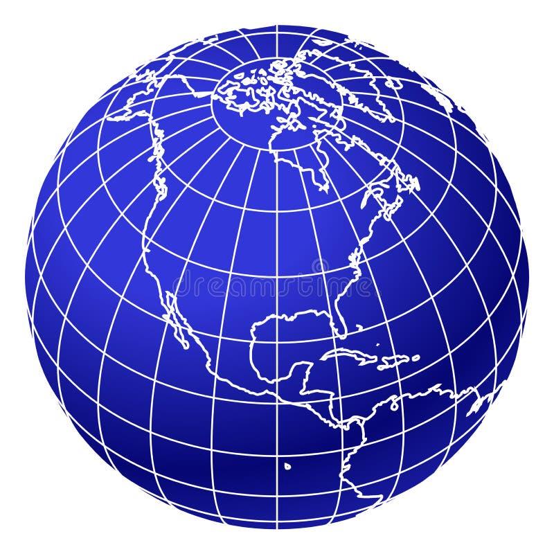 мир глобуса 2 син иллюстрация вектора