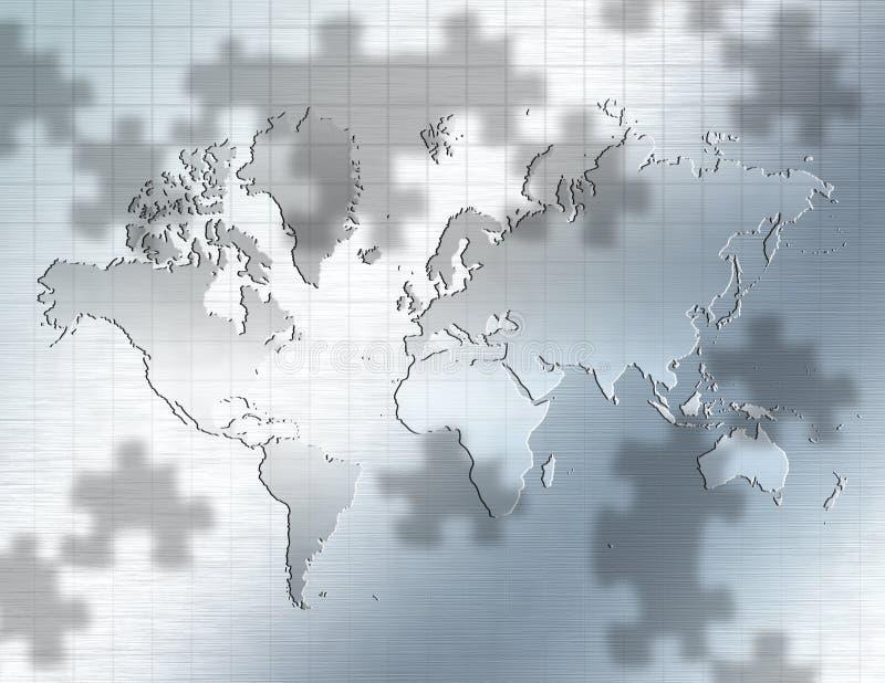мир головоломки иллюстрация вектора