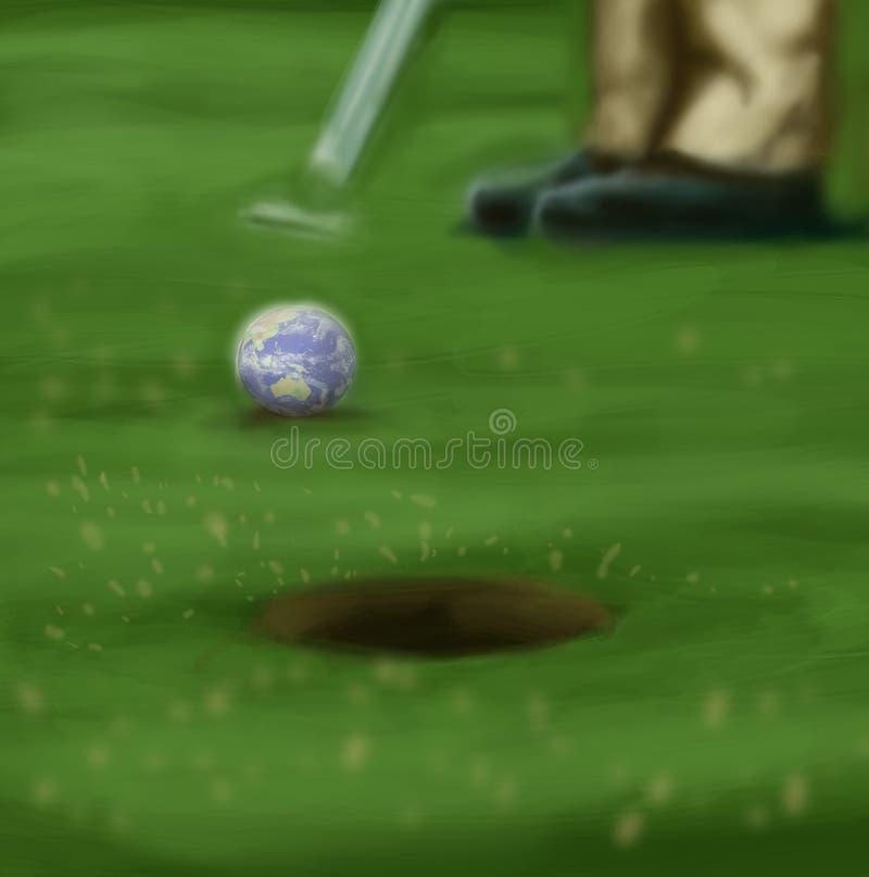 мир гольфа стоковое изображение