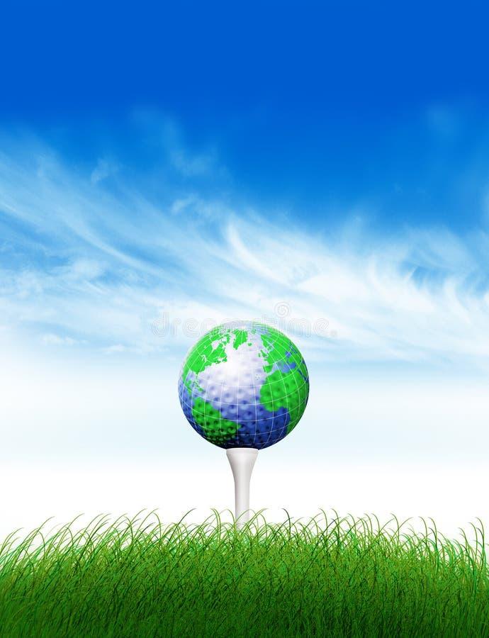 мир гольфа иллюстрация штока