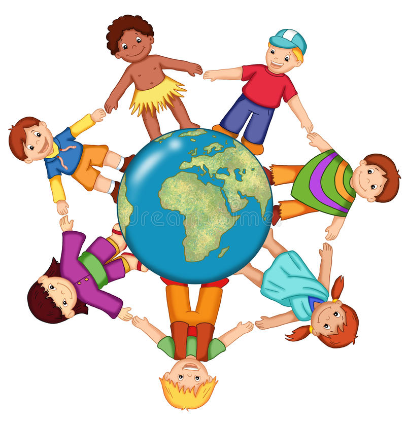 мир детей иллюстрация вектора