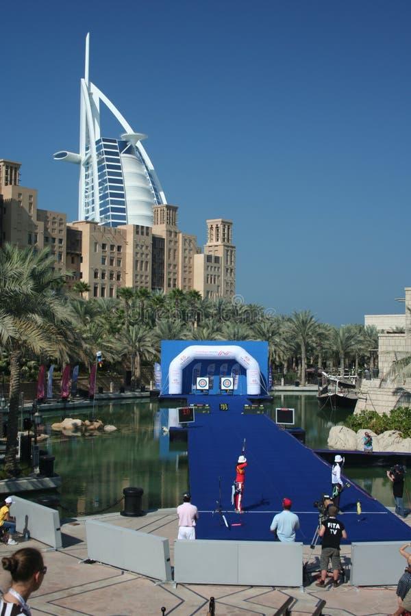 мир Дубай чашки archery стоковое изображение rf
