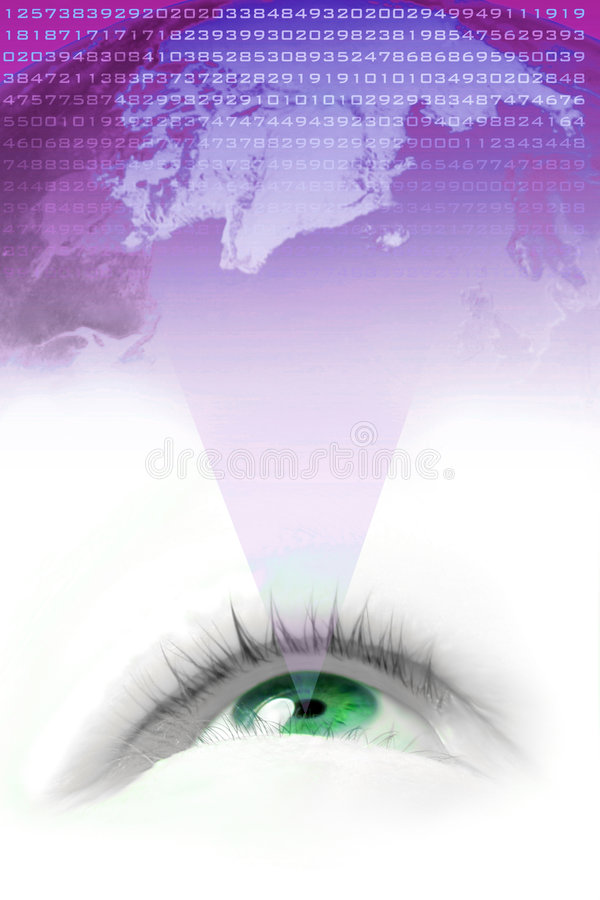 мир зрения иллюстрация вектора