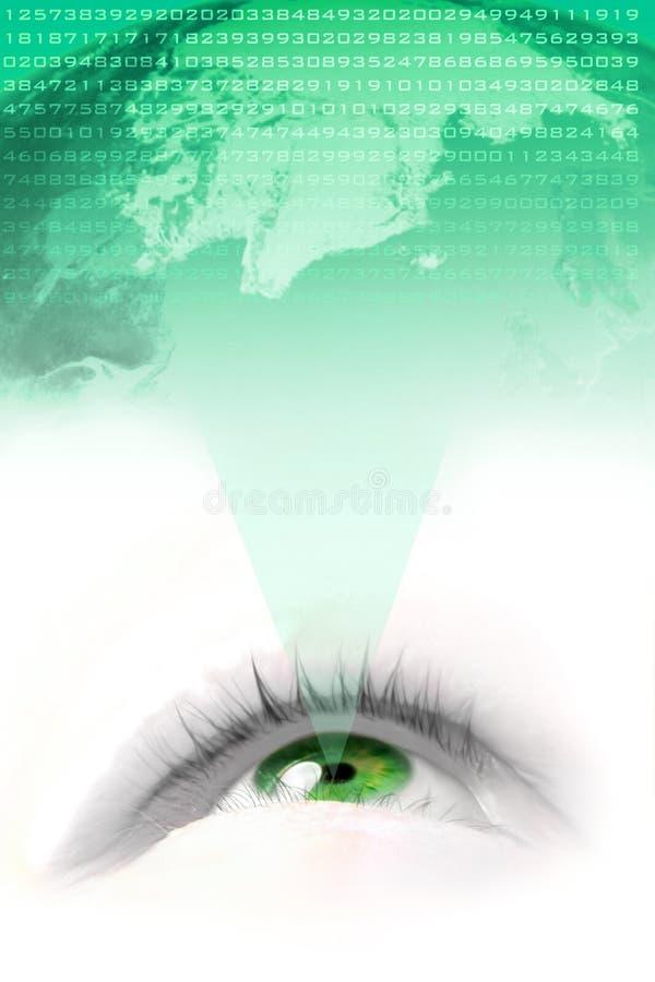 мир зрения greeb иллюстрация вектора