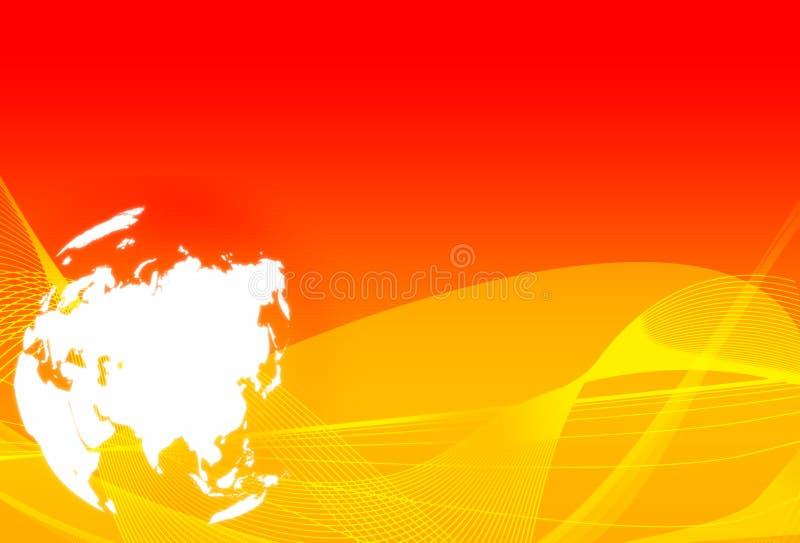 мир карты Азии иллюстрация штока
