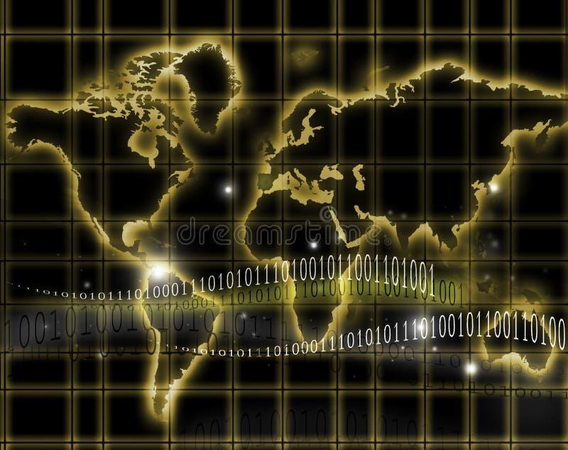 мир карты интернета иллюстрация штока