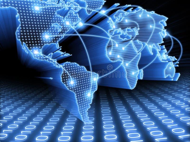 мир карты информации иллюстрация вектора