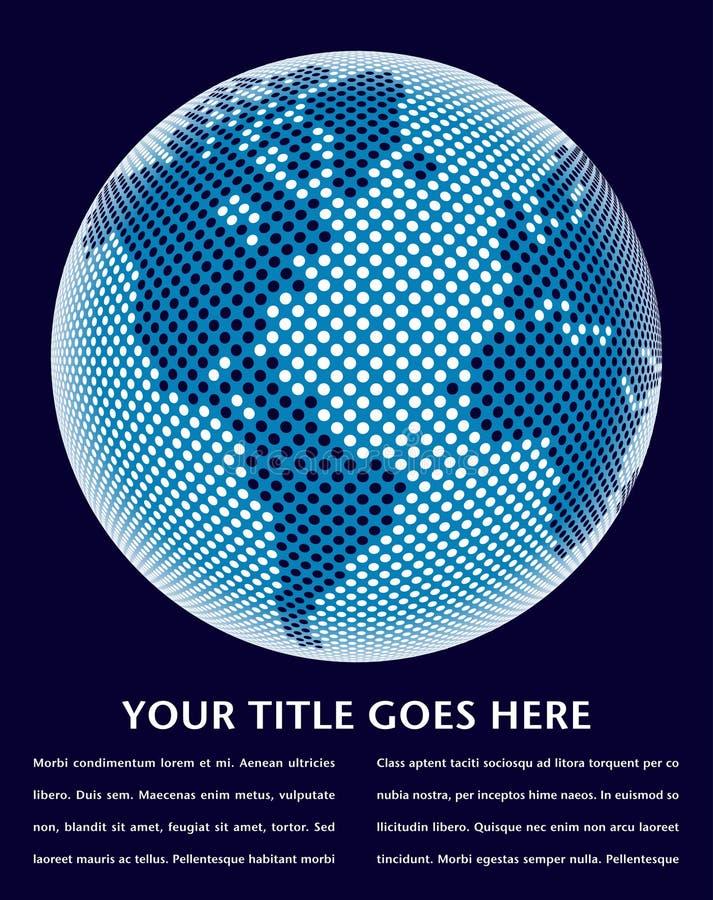 мир карты конструкции цифровой иллюстрация штока