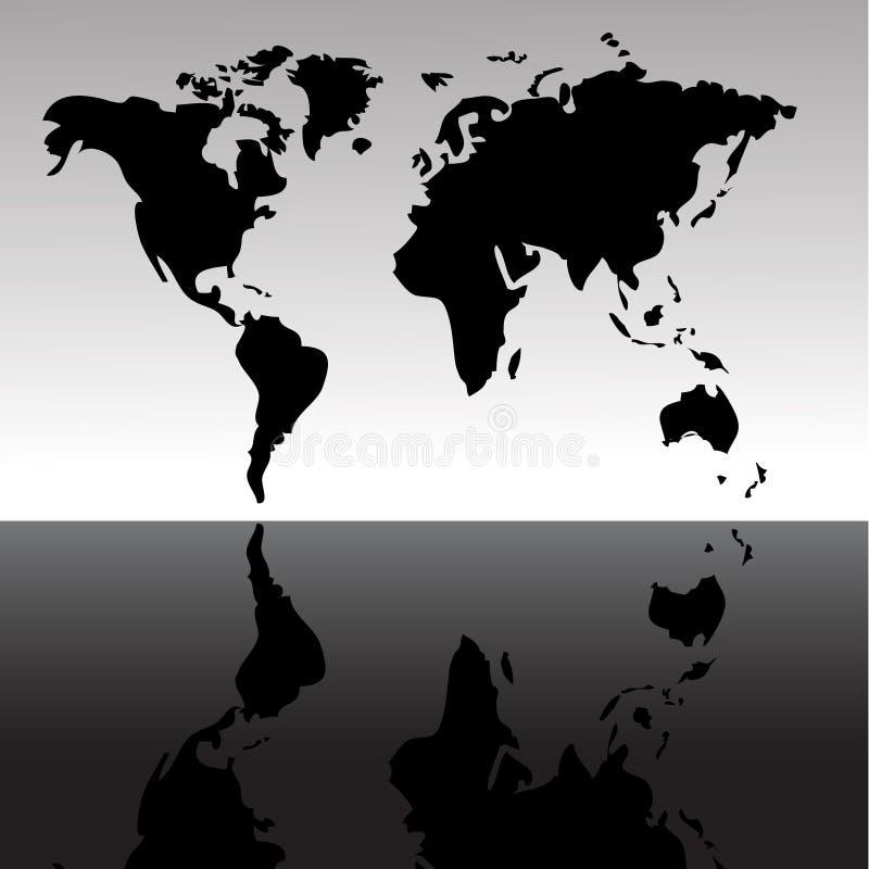 мир карты предпосылки иллюстрация вектора