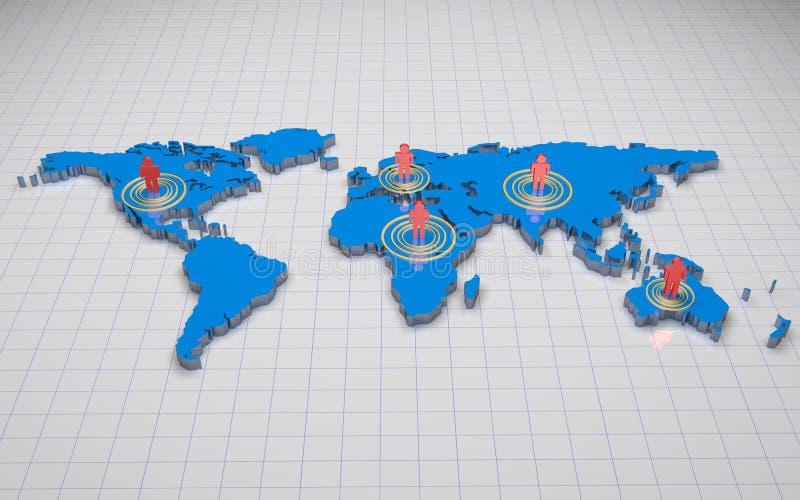 мир карты 3d иллюстрация штока
